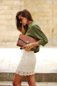 camisa-militar-falda-tubo